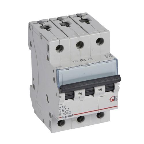 Автоматический выключатель 3P 32A хар-ка B 6kA Legrand ТХ3 (404003)