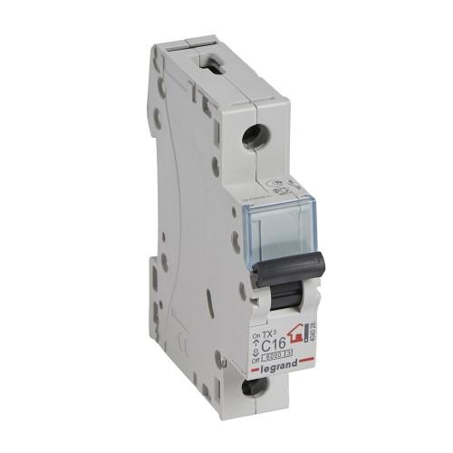 Автоматический выключатель 1P 16A хар-ка C 6kA  Legrand ТХ3 (404028)