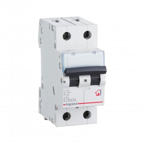 Автоматический выключатель 2P 10A хар-ка C 6kA Legrand ТХ3 (404040)