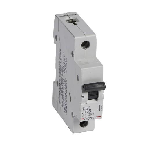 Автоматический выключатель 1P 6A хар-ка C 4,5kA  Legrand RX3 (419661)