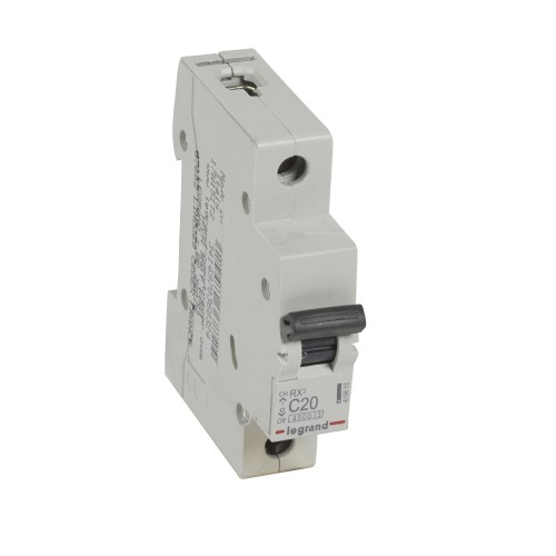 Автоматический выключатель 1P 20A хар-ка C 4,5kA Legrand RX3 (419665 )