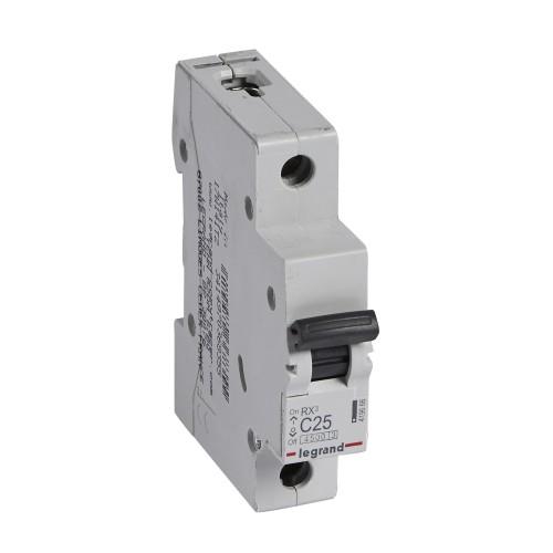 Автоматический выключатель 1P 25A хар-ка C 4,5kA  Legrand RX3 (419666)