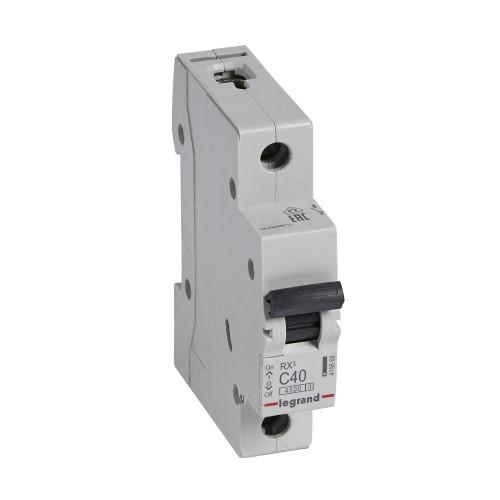 Автоматический выключатель 1P 40A хар-ка C 4,5kA  Legrand RX3 (419668)