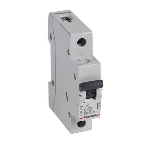 Автоматический выключатель 1P 63A хар-ка C 4,5kA  Legrand RX3 (419670)