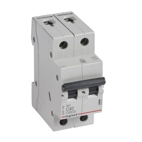 Автоматический выключатель 2P 40A хар-ка C 4,5kA Legrand RX3 (419701)