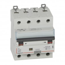 Дифференциальный автомат электромеханический 4P 20A хар-ка C 6kA 30mA тип AC