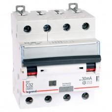 Дифференциальный автомат электромеханический 4P 32A хар-ка C 6kA 30mA тип AC
