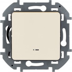Выключатель одноклавишный с подсветкой/индикацией 10 AX 250 В~ слоновая кость