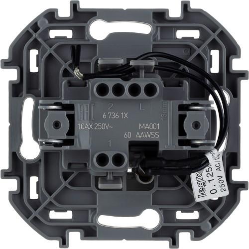 Выключатель одноклавишный с подсветкой/индикацией 10 AX 250 В~ антрацит Legrand Inspiria (673613)