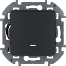 Выключатель одноклавишный с подсветкой/индикацией 10 AX 250 В~ антрацит