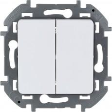 Выключатель двухклавишный 10 AX 250 В~ белый