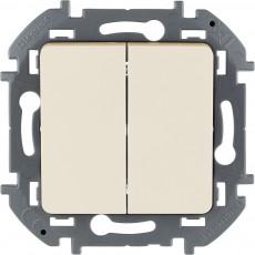 Выключатель двухклавишный 10 AX 250 В~ слоновая кость