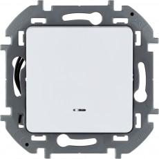 Переключатель одноклавишный с подсветкой/индикацией 10 AX 250 В~ белый