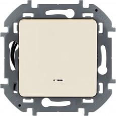 Переключатель одноклавишный с подсветкой/индикацией 10 AX 250 В~ слоновая кость
