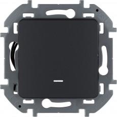 Переключатель одноклавишный с подсветкой/индикацией 10 AX 250 В~ антрацит
