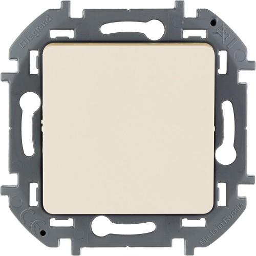 Переключатель без фиксации (кнопка) с Н.О./Н.З. контактом 6 A 250 В~ слоновая кость Legrand Inspiria (673691)