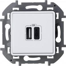 Зарядное устройство с двумя USB-разьемами A-C 240В/5В 3000мА белый