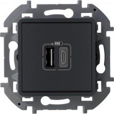 Зарядное устройство с двумя USB-разьемами A-C 240В/5В 3000мА антрацит