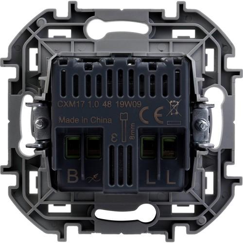Светорегулятор поворотный без нейтрали 300Вт антрацит Legrand Inspiria (673793)