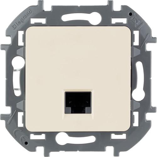 Информационная розетка RJ 45 категория 6 UTP слоновая кость Legrand Inspiria (673831)