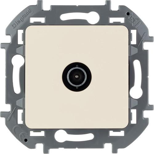 Розетка TV «звезда» 2 дБ 0-2400 мГц слоновая кость Legrand Inspiria (673851)