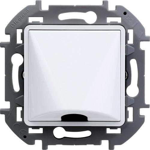 Вывод кабеля с зажимом для крепления белый Legrand Inspiria (673890)