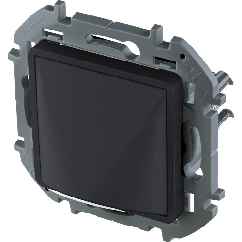 Вывод кабеля с зажимом для крепления антрацит Legrand Inspiria (673893)