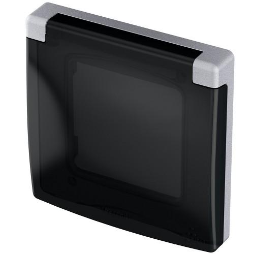 Рамка с защитной крышкой IP 44 алюминий Legrand Inspiria (673922)