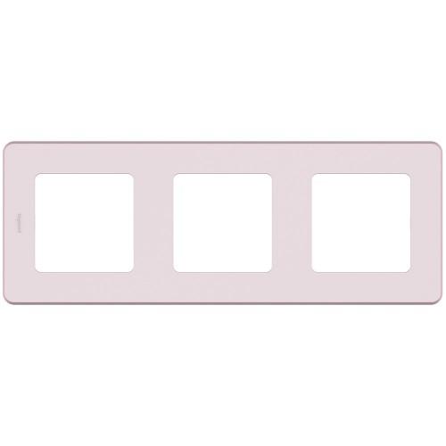 Рамка 3 поста розовый Legrand Inspiria (673954)
