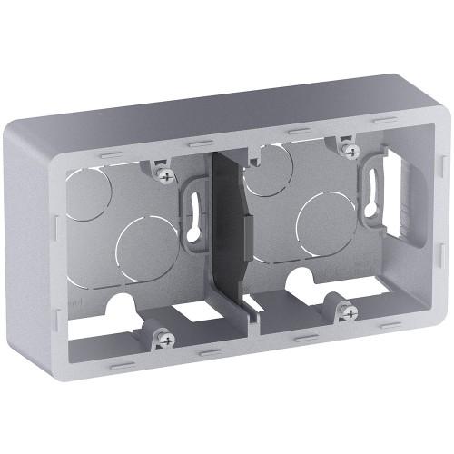 Коробка накладного монтажа 2 поста алюминий Legrand Inspiria (673992)