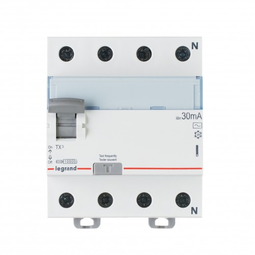 УЗО электромеханическое 4P 25A 10kA 30mA тип AC  Legrand ТХ3 (403008)