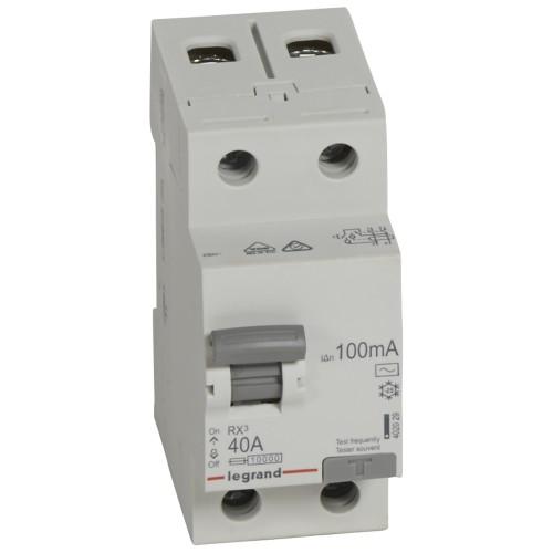 УЗО электромеханическое 2P 40A 10kA 100mA тип AC Legrand RX3 (402029)