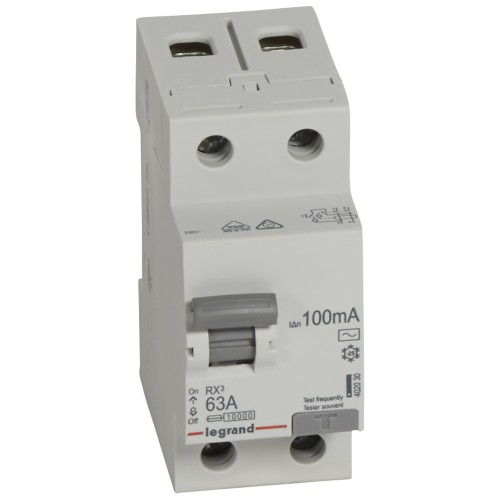 УЗО электромеханическое 2P 63A 10kA 100mA тип AC Legrand RX3 (402030)