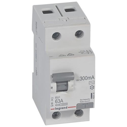УЗО электромеханическое 2P 63A 10kA 300mA тип AC Legrand RX3 (402034)