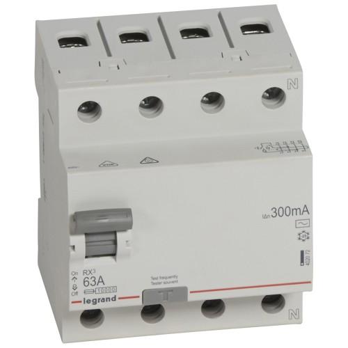 УЗО электромеханическое 4P 63A 10kA 300mA тип AC  Legrand RX3 (402072)