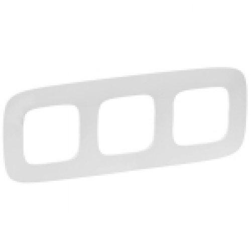 Рамка 3 поста белая Legrand Valena Allure (754303)