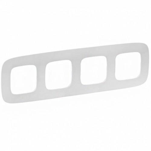 Рамка 4 поста белая Legrand Valena Allure (754304)