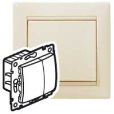 Светорегулятор кнопочный 400Вт (сл.кость) (без рамки)