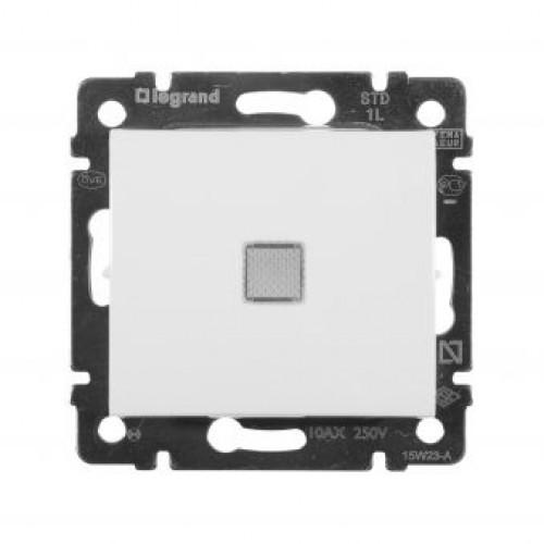 Выключатель с подсветкой (белый) (без рамки) Legrand Valena Classic (774410)