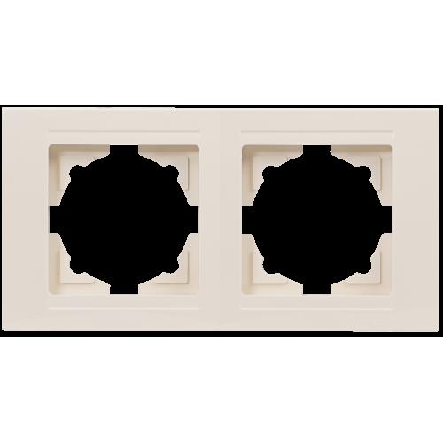 Рамка*2 кремовая Gunsan Moderna (01 29 12 00 000 141)