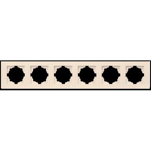 Рамка*6 кремовая Gunsan Moderna (01 29 12 00 000 147)