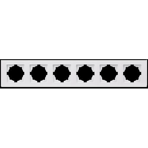 Рамка*6 белая Gunsan Moderna (01 29 11 00 000 147)