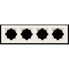 Рамка*4 кремовая