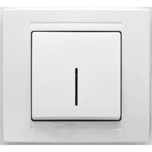 Выключатель 1-кл с индикацией (без рамки) белый Gunsan Moderna (01 29 11 00 150 102)