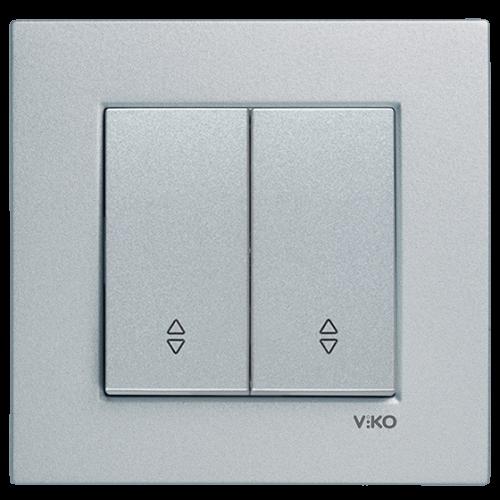 Выключатель 2-кл проходной (без рамки) серебро  Viko Novella (92105017)