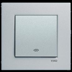 Выключатель 1-кл промежуточный (без рамки) серебро