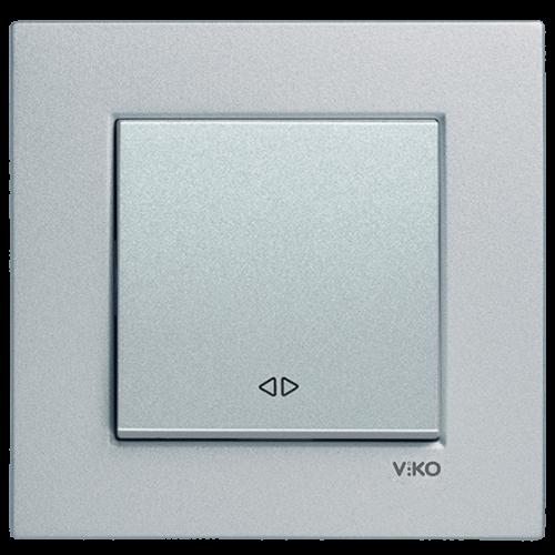 Выключатель 1-кл промежуточный (без рамки) серебро Viko Novella (92105031)