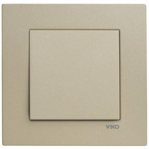 Выключатель 1-кл (без рамки) бронза  Viko Novella (92105201)