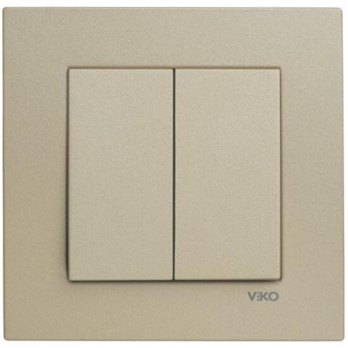 Выключатель 2-кл (без рамки) бронза Viko Novella (92105202)