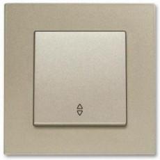 Выключатель 1-кл проходной (без рамки) бронза